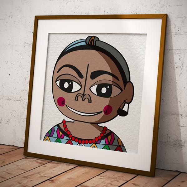 Caricatura il·lustrada de Rigoberta Mechu