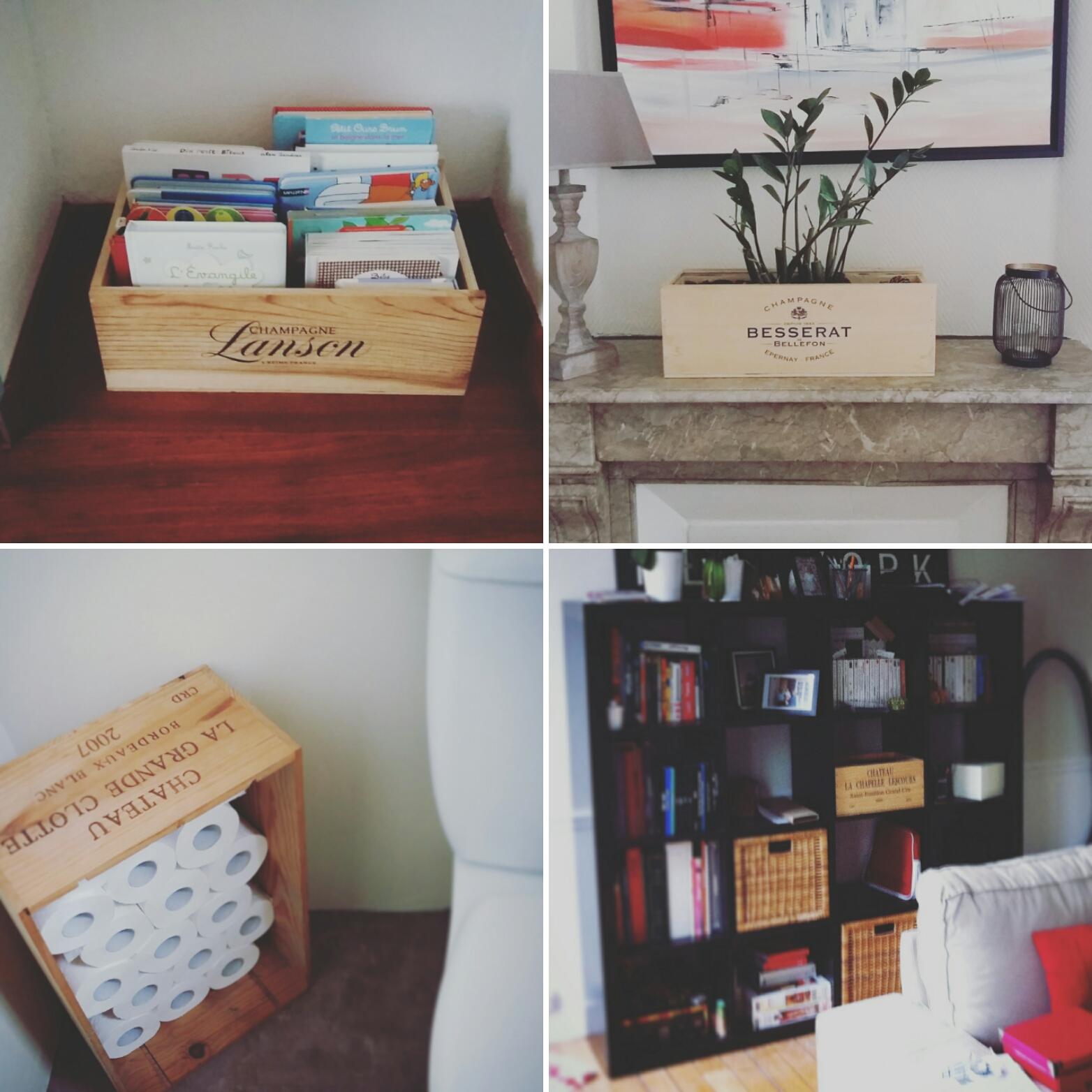 Caisse De Vin Déco petites idées …. de décoration-récupération ! - ces petites