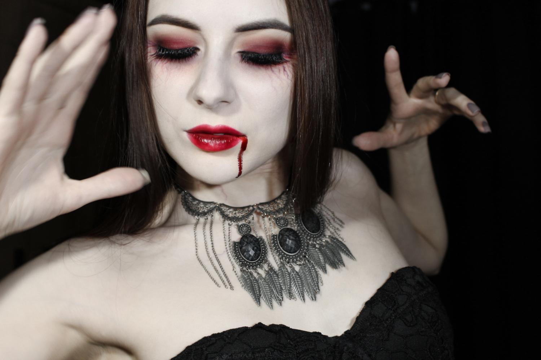 maquiagem para halloween vampira como fazer maquiagem  de vampiro gotica passo a passo