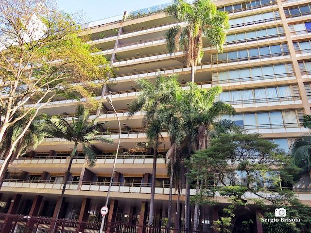 Vista da fachada do Edifício Prudência e Capitalização - Higienópolis - São Paulo