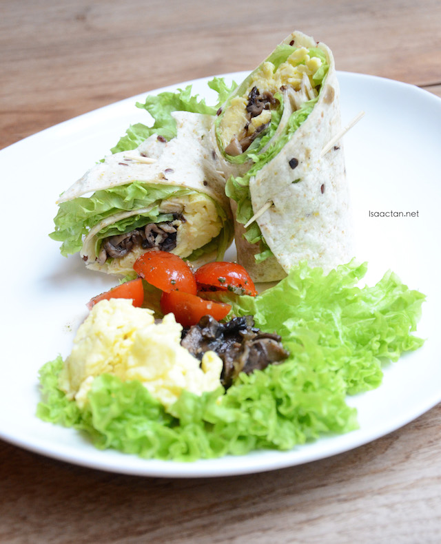 Wild Mushrooms & Scrambled Eggs in 6 Grains Tortilla Wrap