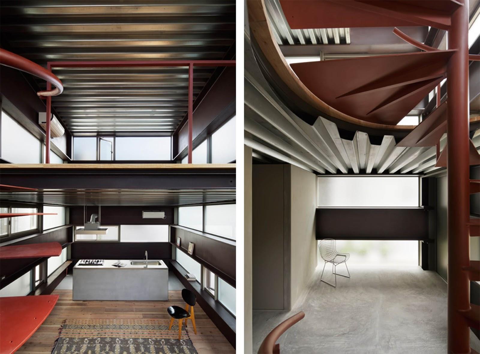 Casa in stile giapponese shinkabe rivisitata in chiave for Casa in stile