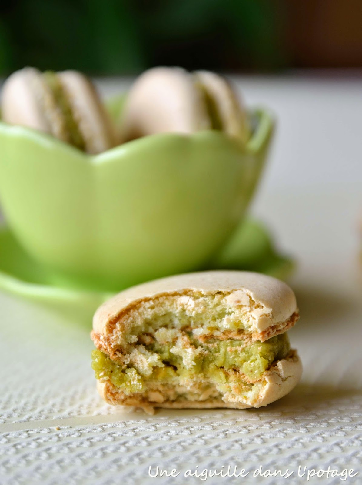 macaron parisien pistache