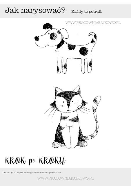 001 Jak narysować psa i kota? Instrukcja krok po kroku