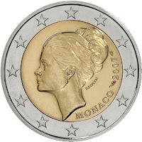 Monaco 2 euroa kolikko 2007