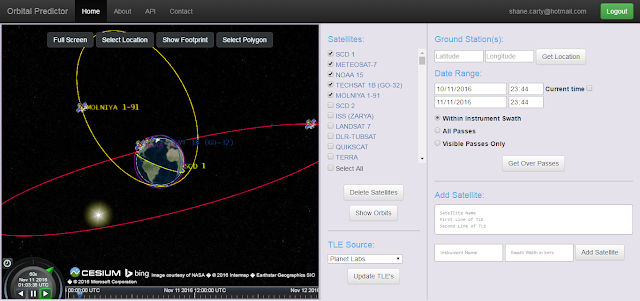 Orbital Predictor for Earth Observation - API Orbit Example