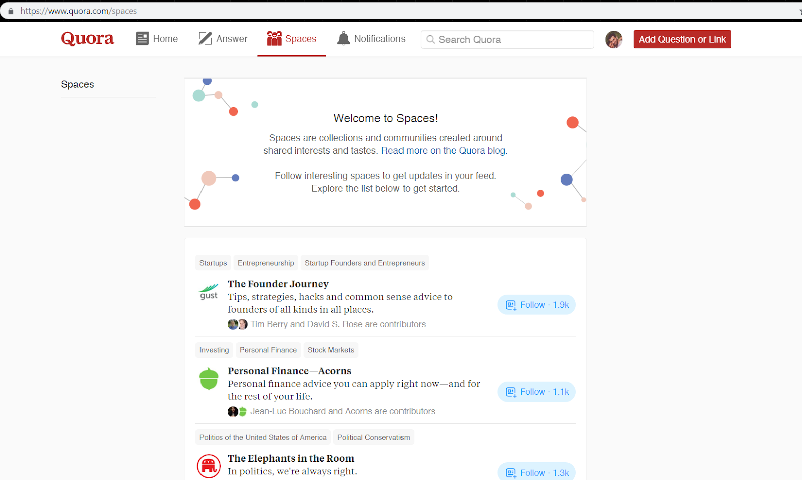 Best practices on using Quora marketing - join relevant Spaces