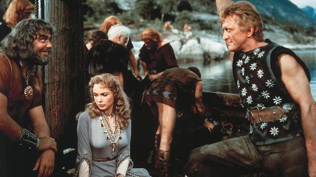 Vikingos con Janet Leigh y Kirk Douglas
