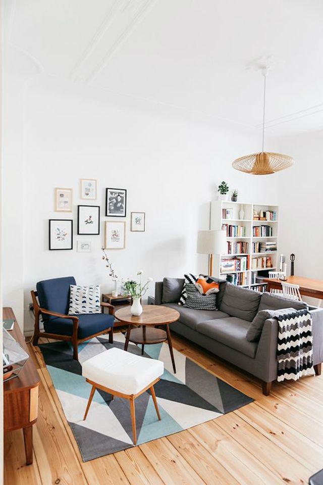 salón con paredes con gotelé