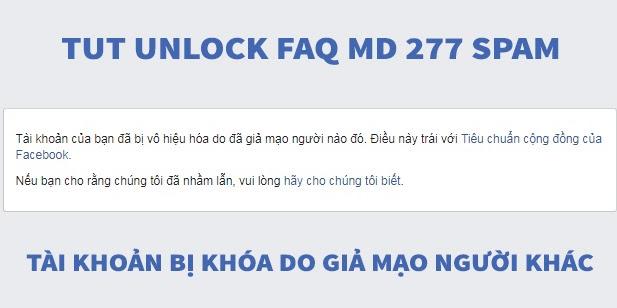TUT UNLOCK FAQ MẠO DANH (277) CÂN SPAM, CÂN TREO, THỨ 7 CHỦ NHẬT