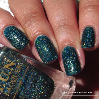 nail polish swatch of glitzy glam from the FUN lacquer summer 2015 collection