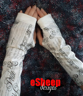 P&P Reading/Writing/Crafting Gloves by eSheep Designs
