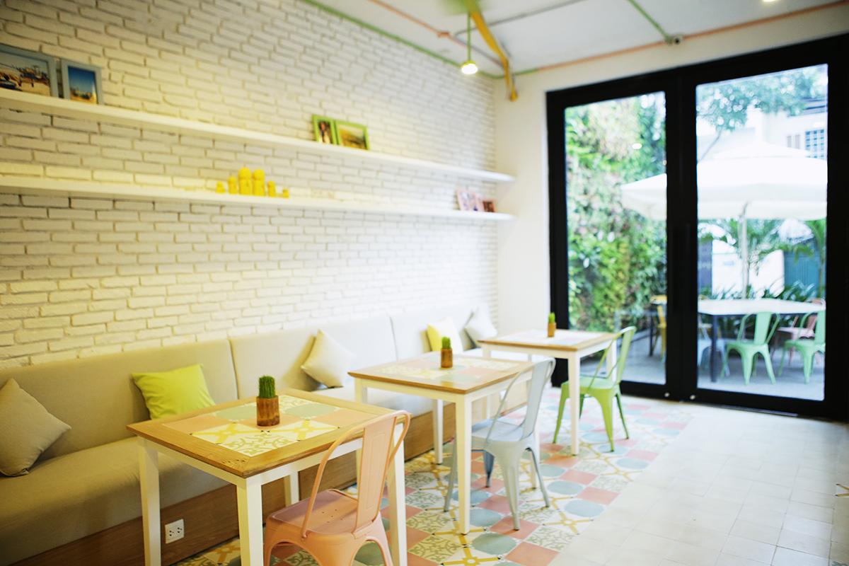 Nội thất không gian tầng trệt khách sạn boutique