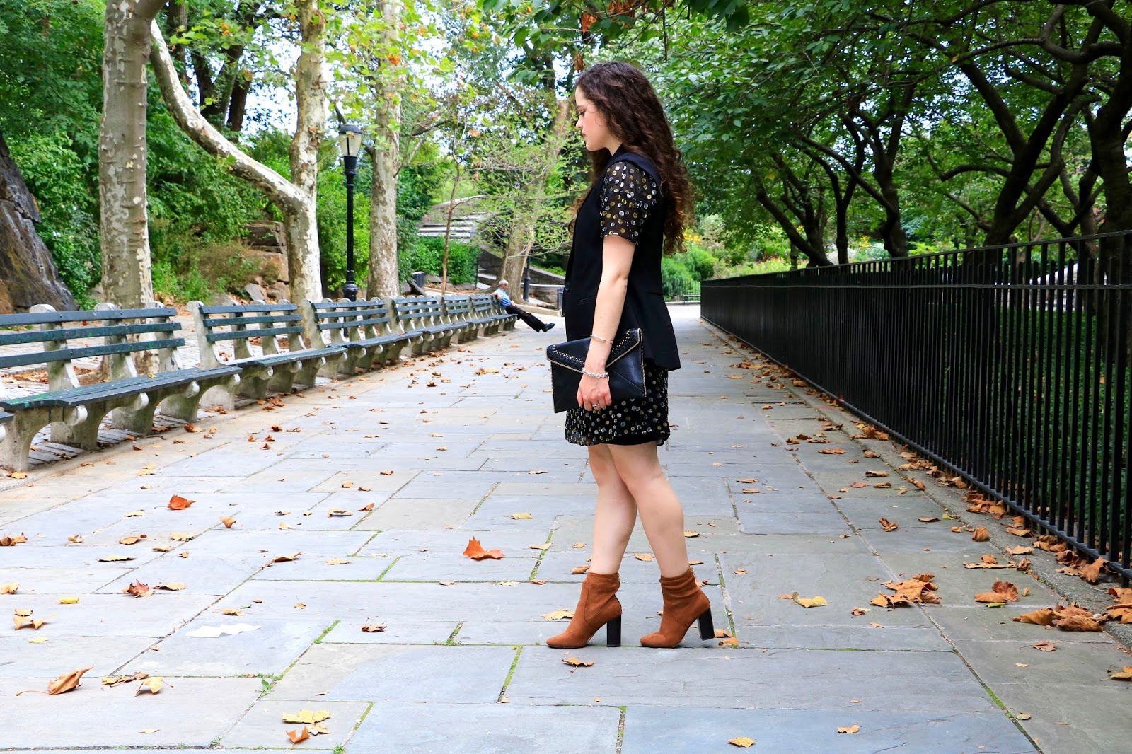express brown suede booties