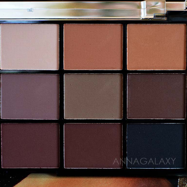 Темные оттенки Палетка теней Makeup Revolution Re-Loaded Basic Mattes