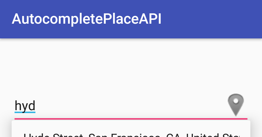 Android Development Tutorials: Autocomplete Google Places API Example