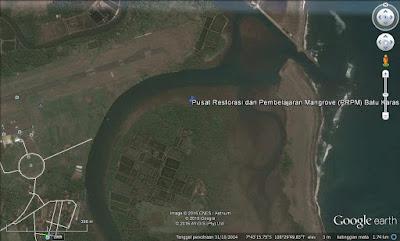 Lokasi PRPM Batu Karas di Google Earth.