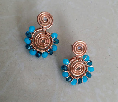 Copper Creations Floral Stud Collection - Sea