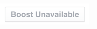 Facebook Boost Unavailable