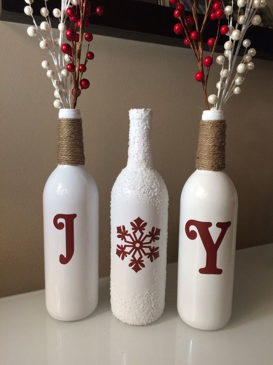 25 Christmas Decoration Ideas With Wine Bottles Do It