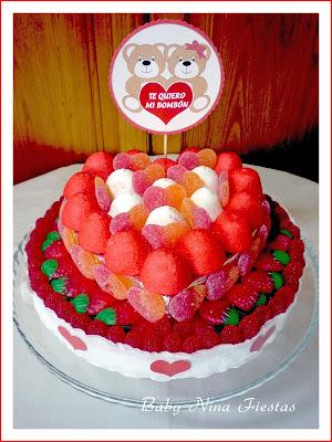 tarta de chuches san valentin