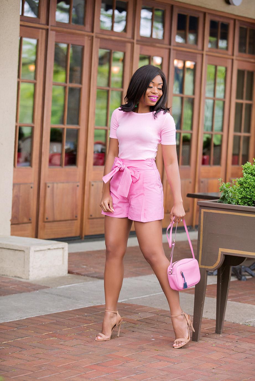 pink trend, jcrew tie-waist shorts, www.jadore-fashion.com