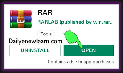 How to open and extract RAR files on Android with pictures - Daily new learn