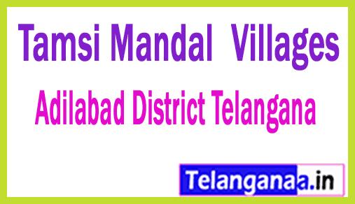 Tamsi Mandal and Villages in Adilabad District Telangana