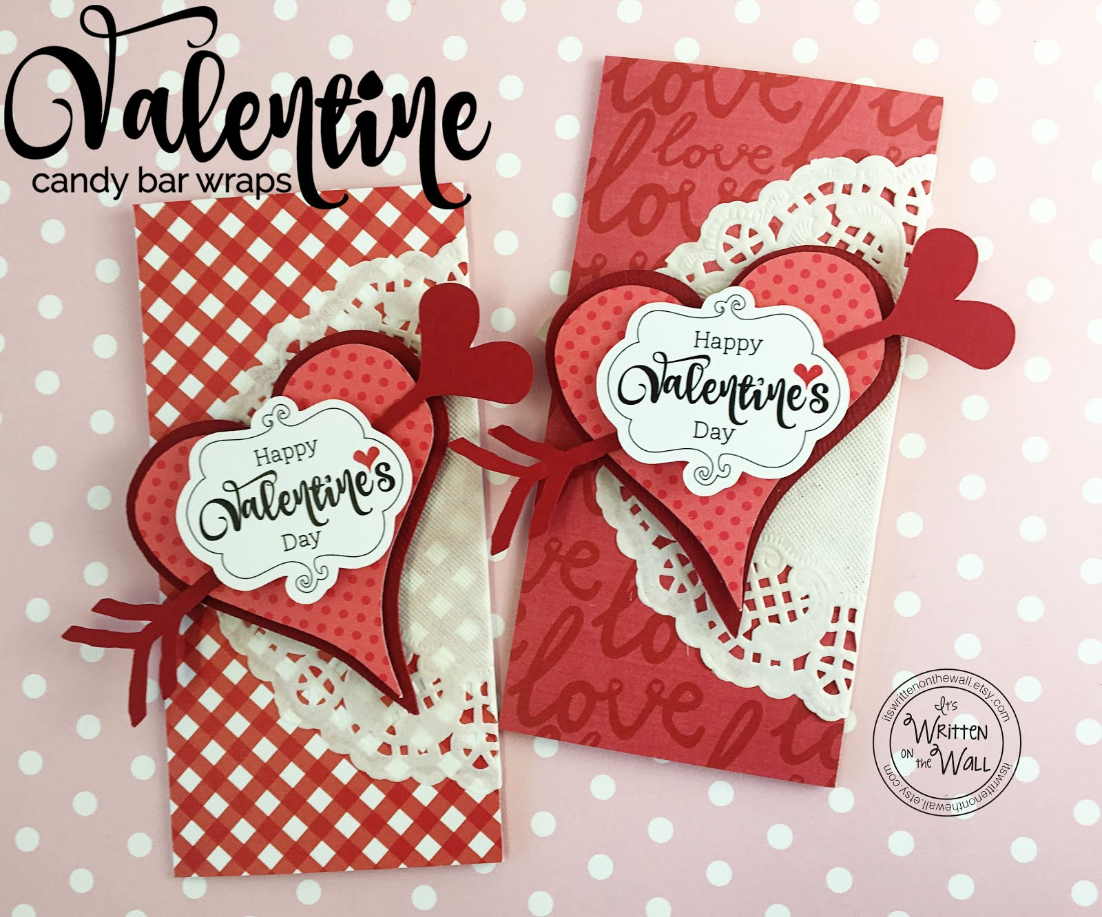 Red Valentine's Day Candy Bar Wrappers