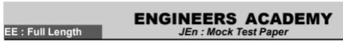 ELECTRICAL ENGINEERING FULL LENGTH PAPER [ENGINEERS ACADEMY]