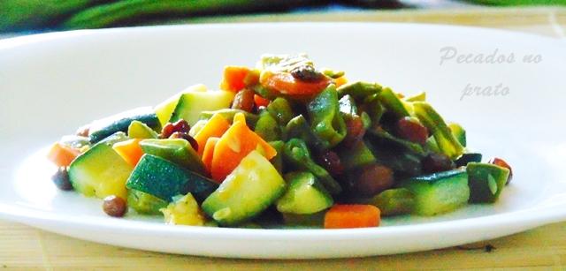 Receita super fácil legumes salteados