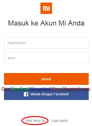 daftar akun Xiaomi