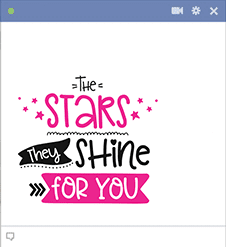 Stars shine for you sticker