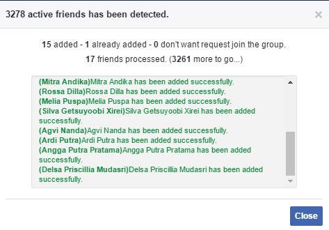 Cara menambahkan Facebook teman ke grup dengan satu klik