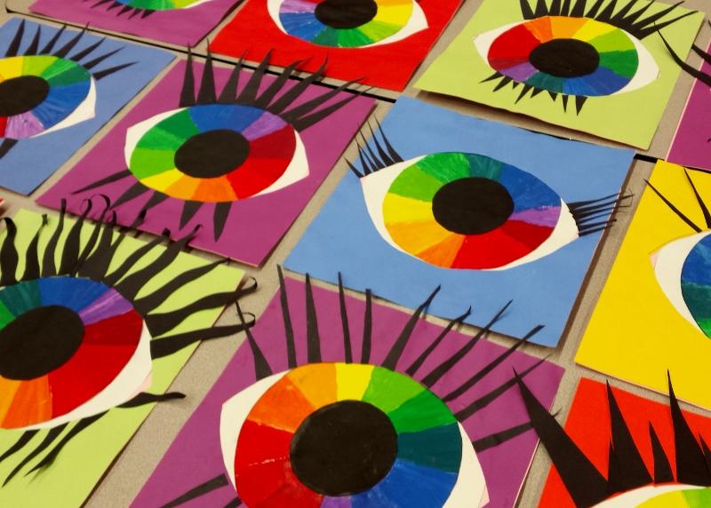 Mrs. Pearce's Art Room : Color Wheel Eyes