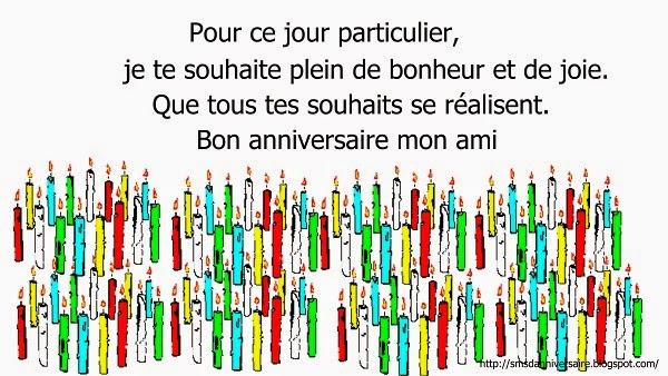 sms joyeux anniversaire en francais