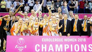 BALONCESTO - Euroliga femenina 2017/2018: UMMC Ekaterinburg es tetracampeón de Europa