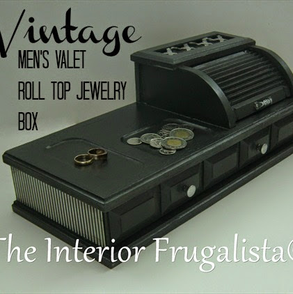 Vintage Men's Valet Roll-Top Jewelry Box