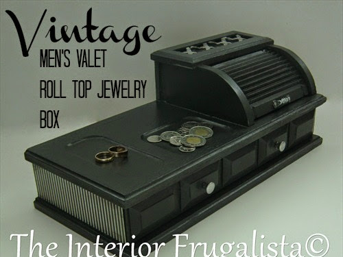 Vintage Men's Valet Roll Top Jewelry Box