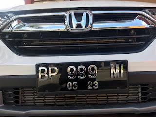 Plat Nomor Mobil Singapore Style Krom Timbul