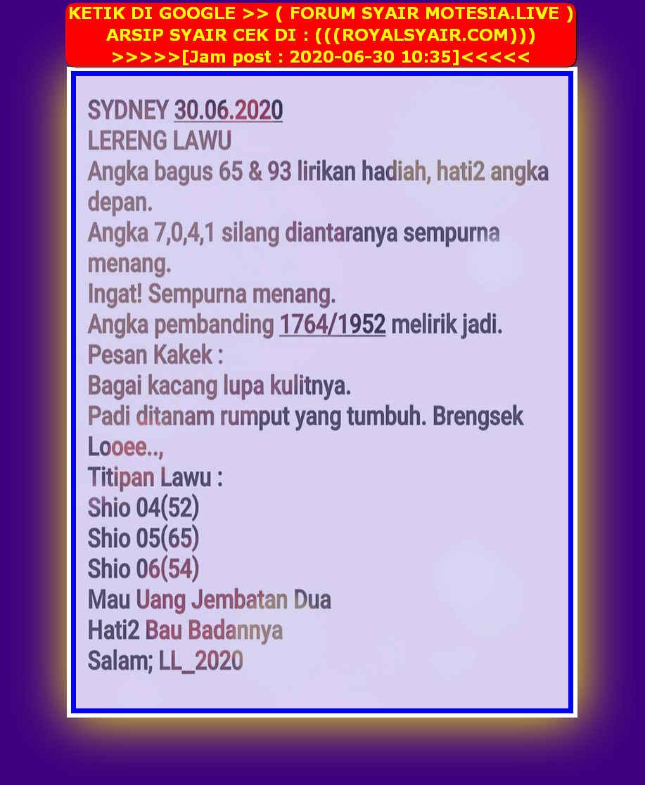 Kode syair Sydney Selasa 30 Juni 2020 27