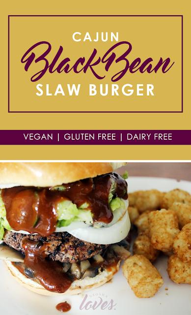 cajun black bean burger vegan