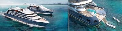 Infinity Pool and Pool Deck on Ponant New Exploration Yachts