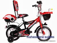Sepeda Anak Evergreen EG1245 Future Cop dengan Sandaran 12 Inci