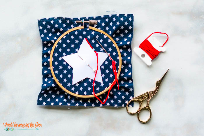 Backstitched Embroidery Star