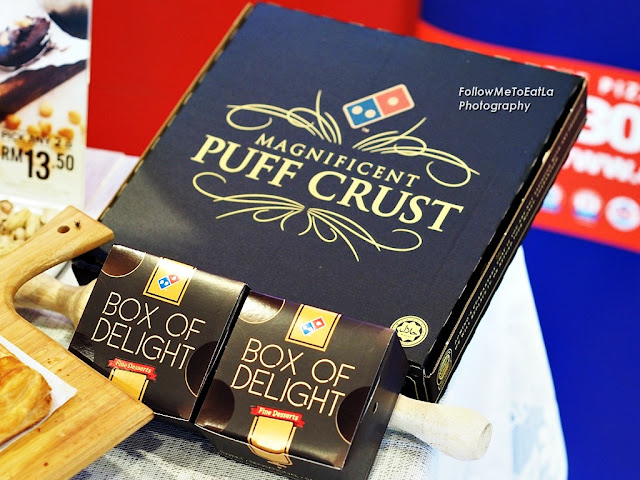 New Box Design For The Puff Crust Pizza & Delectable Dessert
