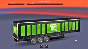 Linux Mint CD's trailer mod for Euro Truck Simulator 2