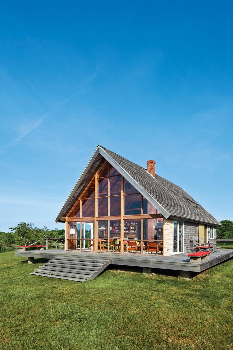 Prefab frame house by jens risom modern prefab modular for Small contemporary prefab homes
