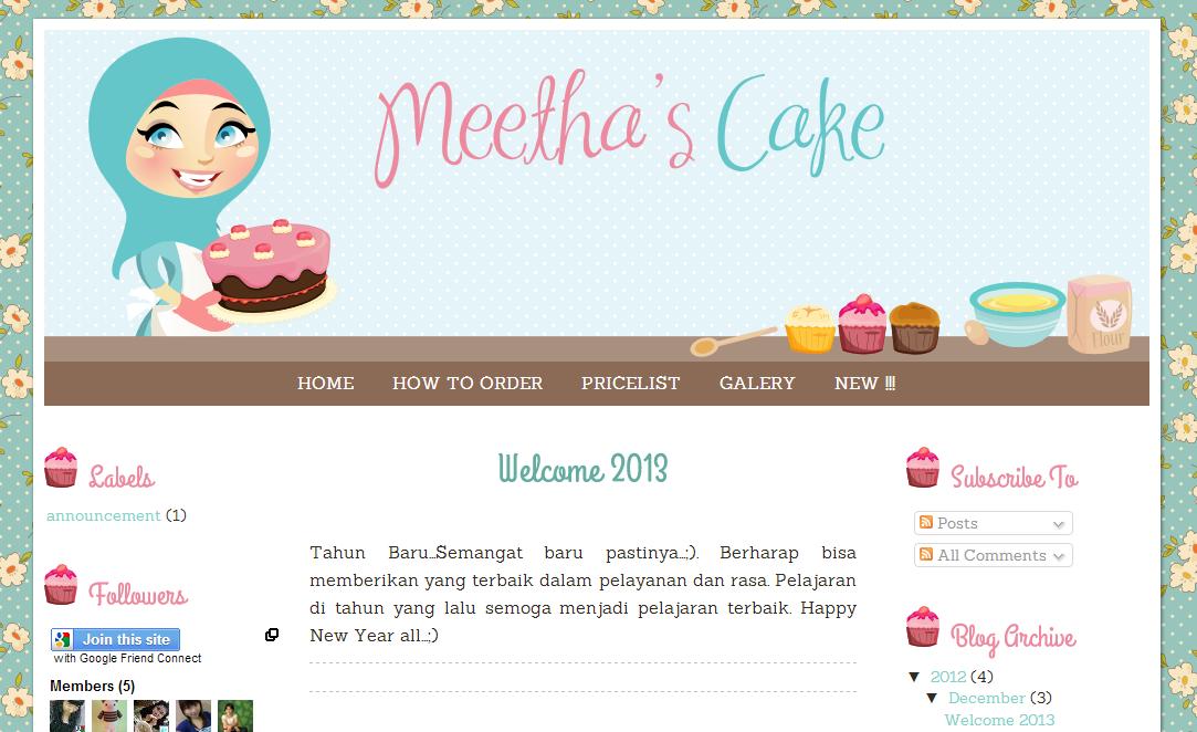 Meethas Cake Blog Design Ipietoon Cute Blog Design