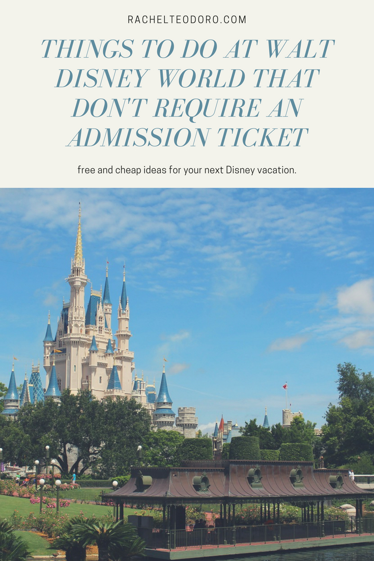free and cheap WDW vacation budget tips